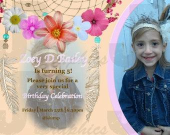 Dream Catcher Birthday Invitation