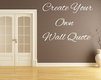 Wall Saying Etsy - Custom vinyl wall decals saying