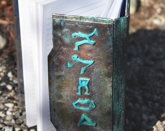 "Stargate Atlantis Glyph Journal with Polymer Clay Cover ""Stone"""