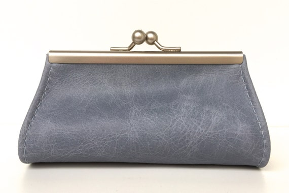 """Purse , wallet leather , """" BLUESKY """" , red leather wallet"""