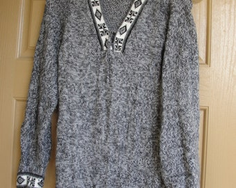 Vintage 80s 90s  sweater grey small medium 1980s 1990s