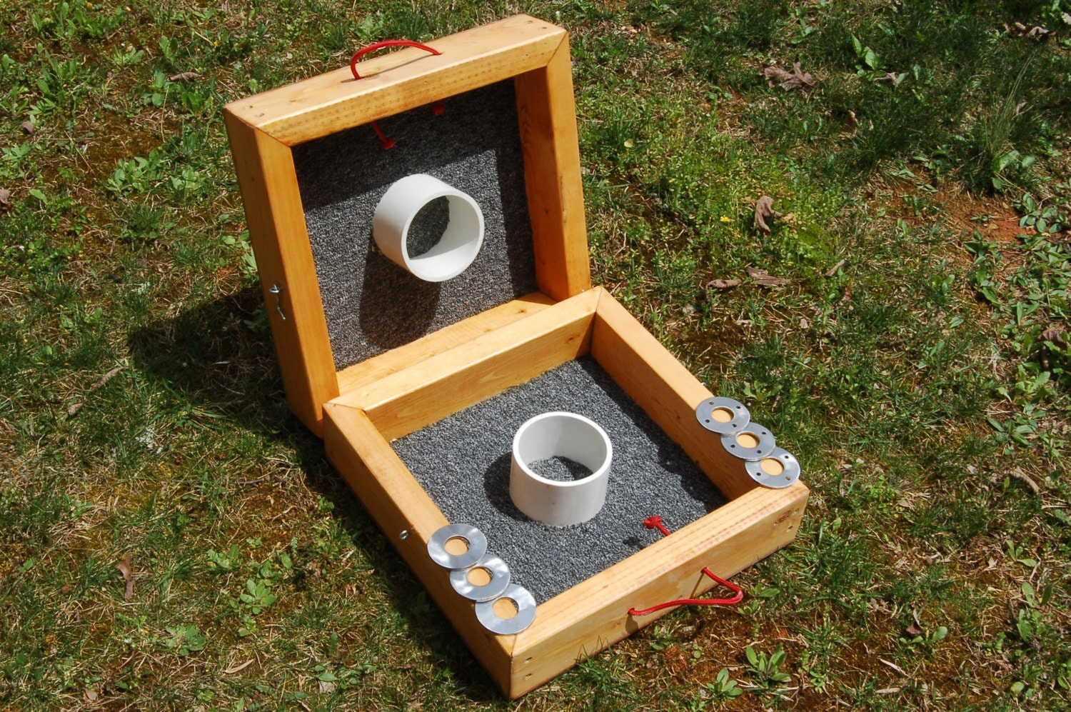 custom built washer toss game set