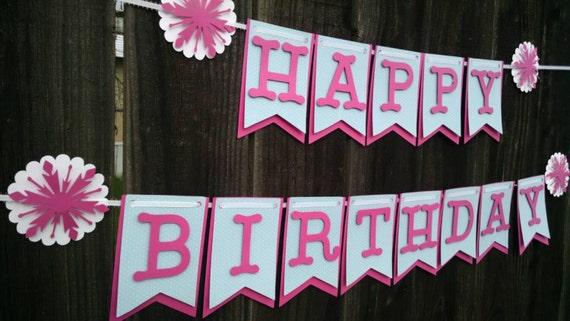 Frozen inspired Banner, Birthday Banner, Happy Birthday Banner, Happy Birthday Girl Banner 1st Birthday,Happy First Birthday Banner,