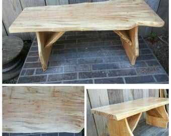 Rustic Wedding Bench Guest Book Alternative Ambrosia Maple Ready To Ship