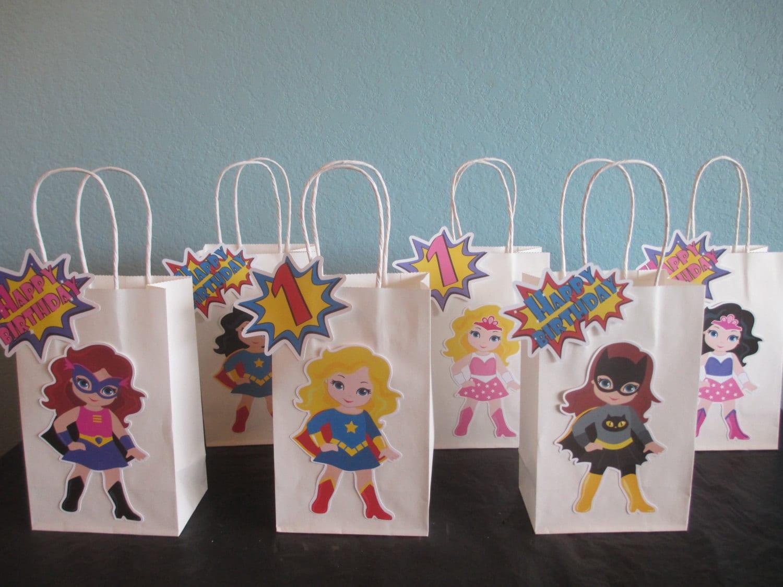 Girl superhero favor bags goody