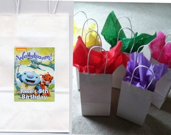 Wallykazam party favor goody bags personalized set of 10