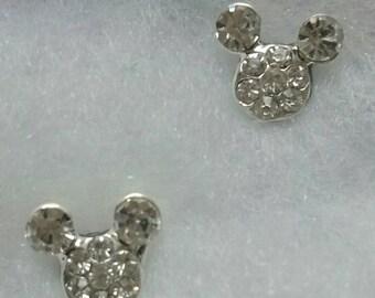 Mickey mouse inspired Rhinestone earrings or plugs