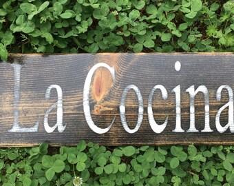 La Cocina Kitchen Wood Sign/Spanish Kitchen Sign/La Cocina Wood Sign/ Spanish Sign
