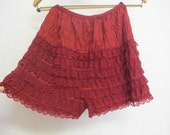 Petti Pants Bloomers Ruffle Underpants Lace Underpants Red Panties Rockabilly panties