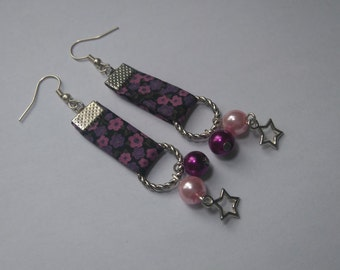 Liberty earrings and glass beads