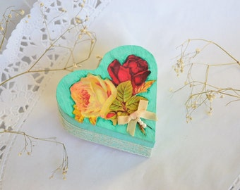 Shabby Chic Ring bearer box Rustic Ring Box Hearth Box Personalized Wedding ring  Box ring holder Jewelry box