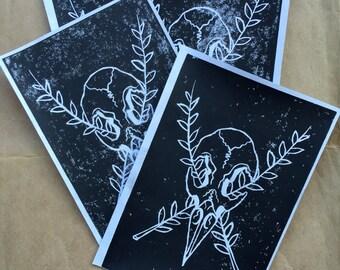 Crow Skull Prints