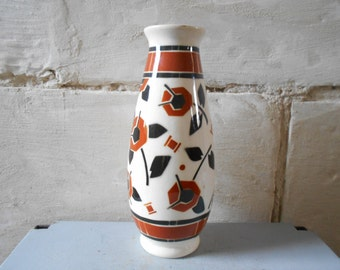 French Art déco vase , French ceramic from Lunéville Royal Manufacture.
