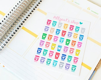 Coffee Cup Stickers - Planner Stickers
