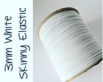 "3mm 1/8"" Skinny Elastic White"