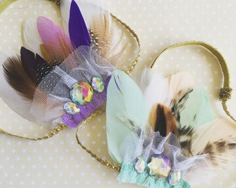 Summer feather crowns