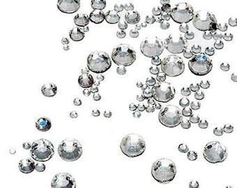 7056 Pcs Crystal Clear Hotfix Rhinestones - 8 Sizes - By Threadart