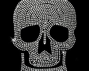 Rhinestone Transfer - Hot Fix Motif - Large Skull