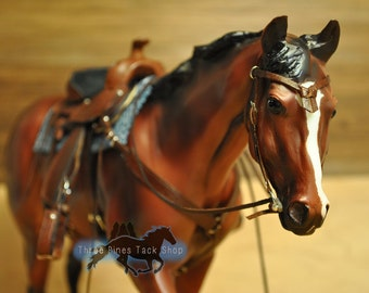Western Bridle with Knotted Browband for Model Horses