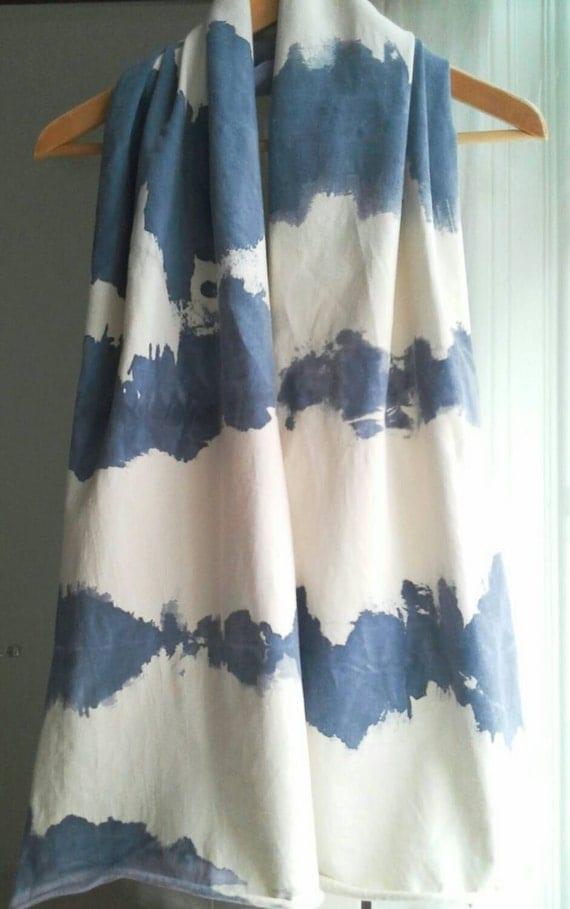 jersey schal shibori beige blau m nner halstuch batik blau. Black Bedroom Furniture Sets. Home Design Ideas