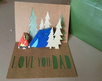 Dads birthday 3D pop up card