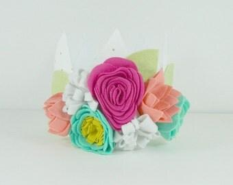 FUCHSIA|| MINT|| CORAL|| Fabric Crown