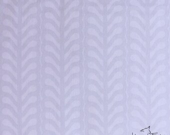 Half Yard - 1/2 Yard - Leaf Stripe in Cloud - THE WHISPER PALETTE by Lizzy House for Andover