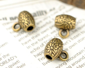 DIY 50 pcs antique bronze beads spacer beads charm pendant 10x9mm