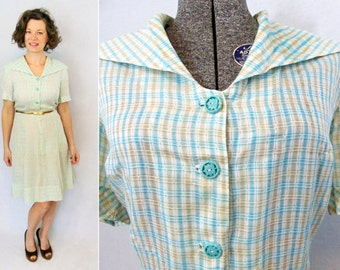 50s Dress / 1950s Dress / 50s Day Dress / 1950s Day Dress / 40s Dress / 1940s Dress / 40s Day Dress / 1940s Day Dress / Summer Dress