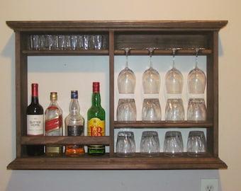 Mini bar weathered gray 3 39 x2 39 minimalist style wine by for Mini bar wall cabinet