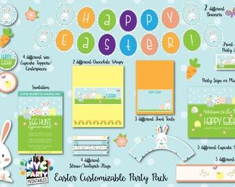 Easter Party, Easter Egg Hunt, Spring Party Printables
