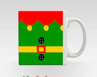 Christmas Mug Elf Santa Snowman Rudolph Cute Xmas Gift