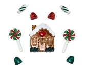 Candy Cottage FAST COMBINED SHIPPING Jesse James Dress It Up Christmas Novelty Buttons