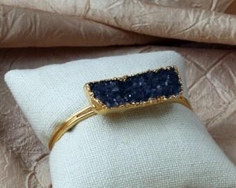 Black Drusy Bracelet