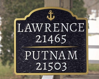 Duo Last name address sign - Custom Made to Order