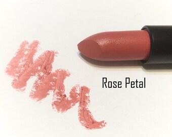 ROSE PETAL Natural ORGANIC Lipstick - Mineral Lip Butter - Gluten Free Vegan Lipstick