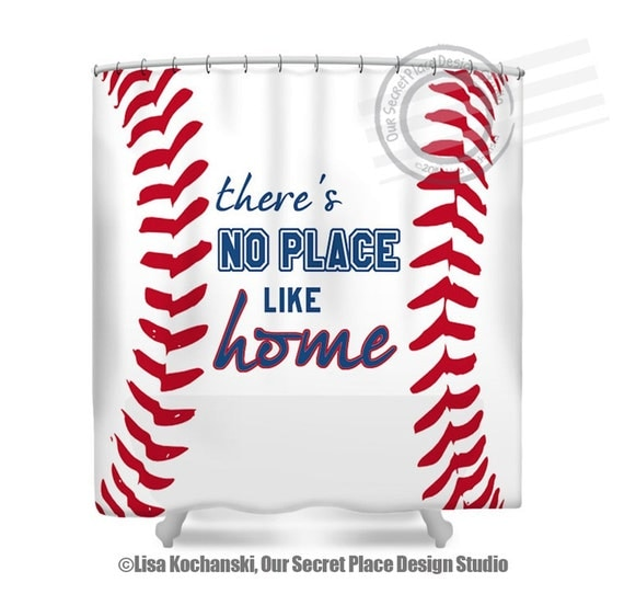 Baseball Shower Curtain Sports Bathroom Decor Fabric Shower Curtain ...