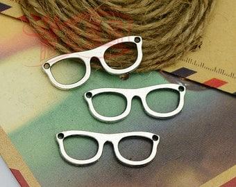 15pcs 10x28mm Ancient Silver Pendant glasses