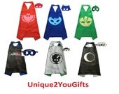 PJ Mask cape/mask set (Owlette, catboy, gekko, Luna, Romeo, Ninja)
