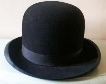 Large Antique Bowler Hat