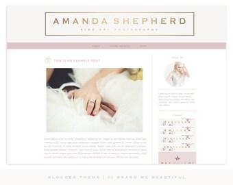 Blogger Template Blog Theme // Blog Theme // Blogger // Pre-made Blog Design