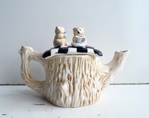 Collectable Teddy Bears Having A Tea Novelty Teapot. For Ornamental use only