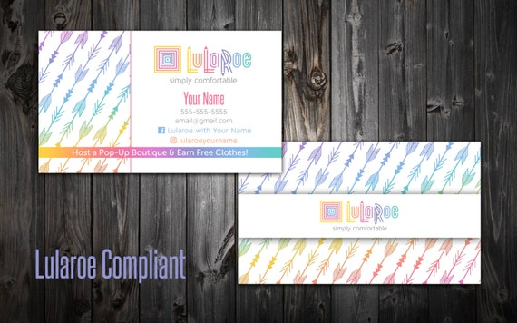 Lularoe business cards arrows by mommyplaytime on etsy for Etsy lularoe business cards