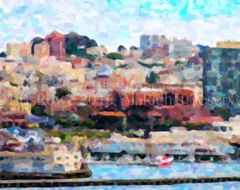 San Francisco Art on Canvas San Francisco Print San Francisco Wall Art San Francisco Skyline City Prints City Wall Art Travel Photography