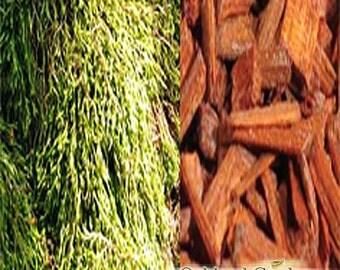 1 oz (30ml) OAK MOSS & SANDALWOOD Fragrance Oil -Mystic blend of oakmoss, sandalwood and patchouli with a soft blend of amber and musk
