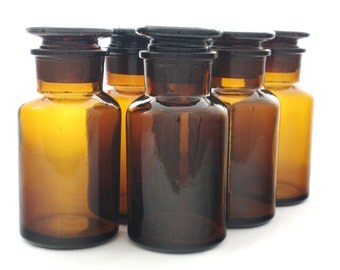 250ml Glass Apothecary Jar / Reagent Bottle - Set of 6