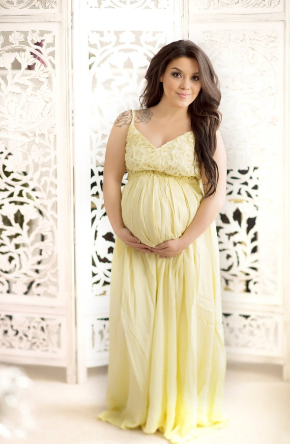 Yellow Baby Shower Dress