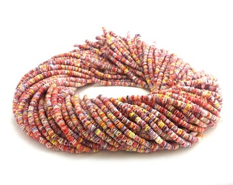 Multicolored Pectin Shell Heishi Beads (4 - 5 mm , 24 Inches Strand)