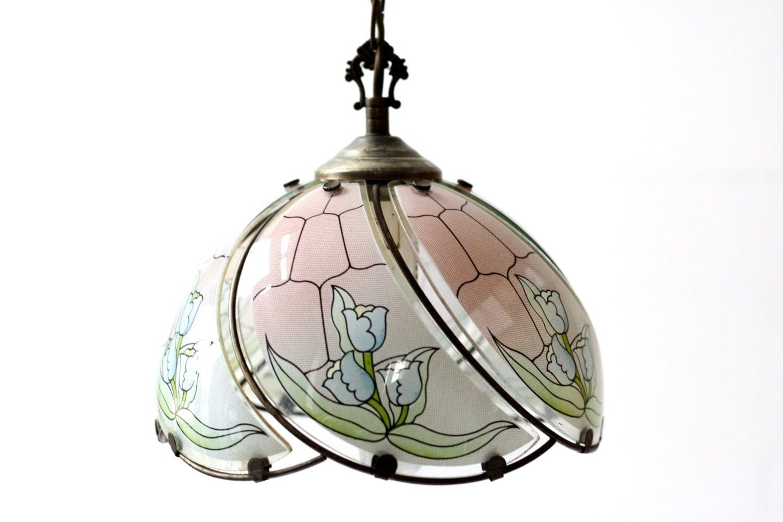 Opaline Chandelier 70s French Lighting Chandelier