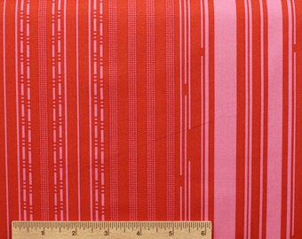 Anna Marie Horner Innocent Crush Mixed Signals AH30 Summer red pink stripe sewing quilting 100% cotton fabric by the yard